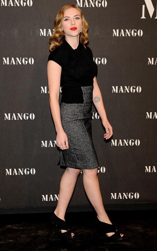 Scarlett Johansson en la fiesta Mango