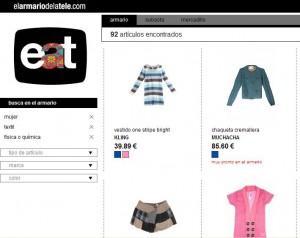 El Armario de la tele, un portal donde se vende ropa de la tele