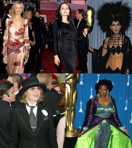 Las peor vestidas de los Oscar en toda la historia