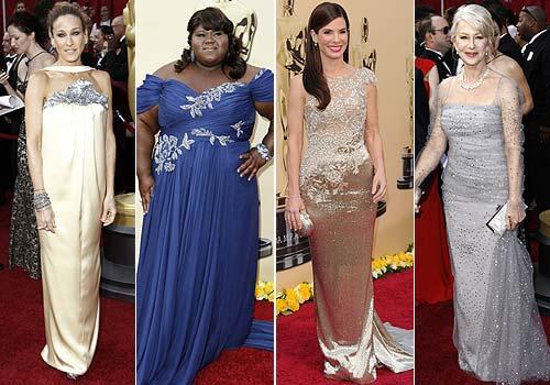 vestidos con brillos oscar 2010