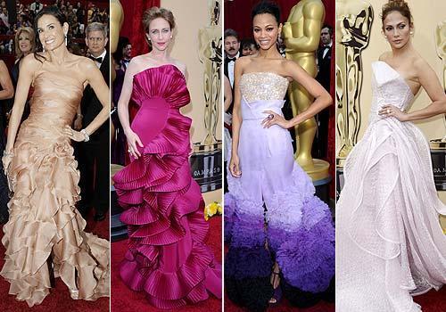 vestidos con volumenes oscar 2010