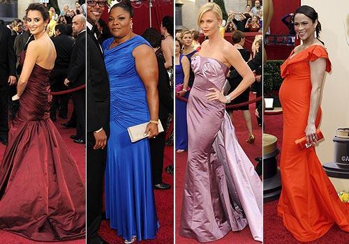 vestidos de colores oscar 2010
