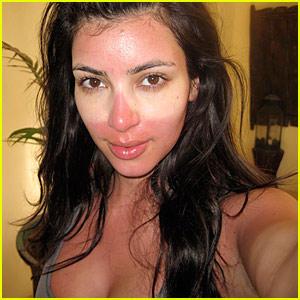 Kim Kardashian tan bella con maquillaje como al natural1