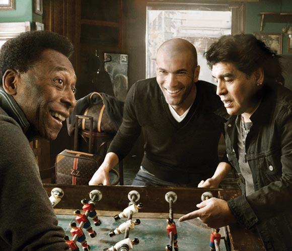 Pele, Maradona y Zidane