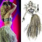 Cavalli diseno el vestido de Shakira para el Mundial