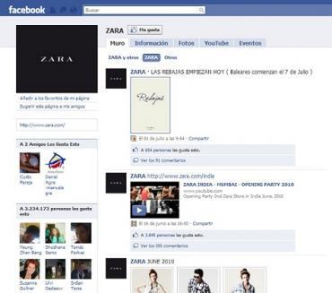 Las marcas de moda en Facebook