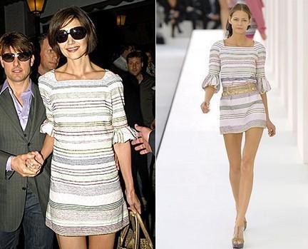 Katie Holmes, una famosa muy puesta en la moda...