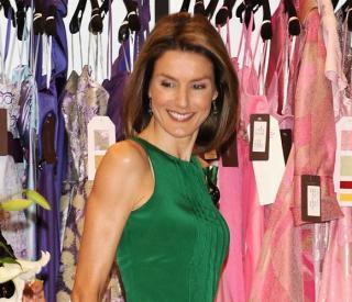La princesa Letizia apoya la moda espanola