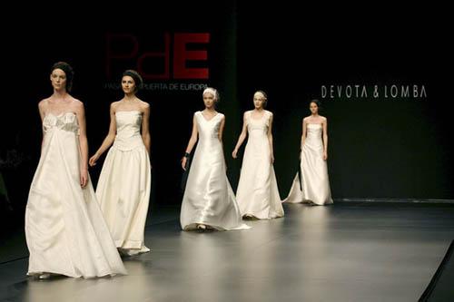 Los vestidos de novia estuvieron presentes en Cibeles
