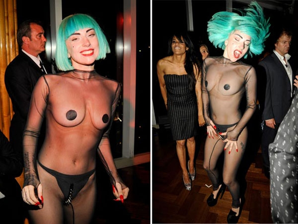 Lady Gaga no perdió la oportunidad de llamar la atención