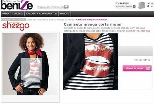 La nueva web ofrece prendas en tamaños grandes