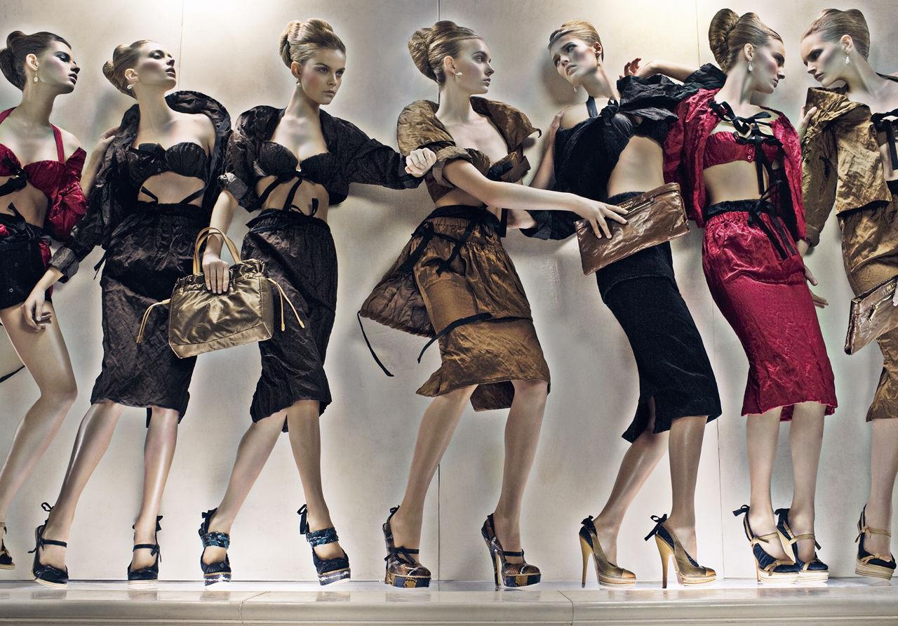 Una de las últimas campañas publicitarias de Prada