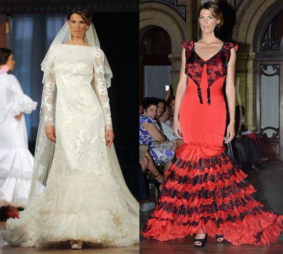 La modelo posa con diseños flamencos