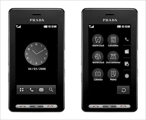 smartphone de lujo prada lg 3.0