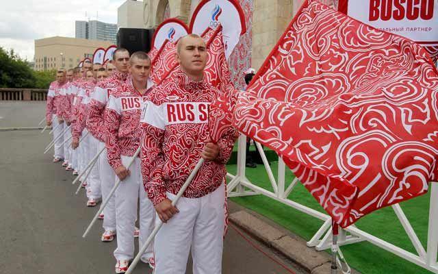 Rusia será representado en rojo y blanco