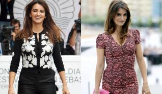 Penélope Cruz chic y brillante.