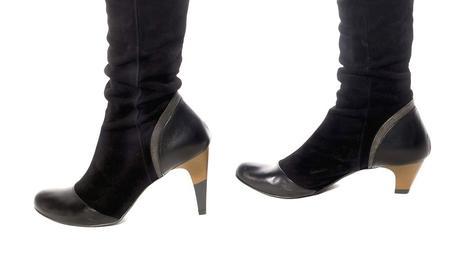 Dos tacos en un mismo par de zapatos.